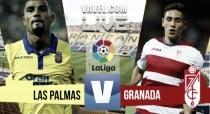 Resultado Las Palmas vs Granada CF en vivo online en La Liga 2016 (0-0)