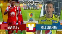 En vivo: Santa Fe 0-0 Millonarios 2016 online en el Clásico de la Liga Águila