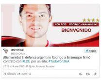 Erramuspe finalmente ficha por Liga de Quito