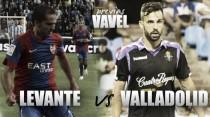 Previa Levante UD vs R.Valladolid CF. Duelo entre favoritos aspirantes al ascenso.