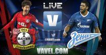 Resultado partido Bayer Leverkusen vs Zenit en vivo y en directo online