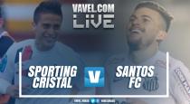 Resultado Sporting Cristal x Santos na Libertadores 2017 (1-1)