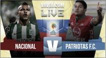 Resultado Atlético Nacional vs Patriotas por la Liga Águila 2016 (2-1)