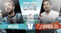 Málaga vs Sevilla en vivo y en directo online en la Liga BBVA 2015 (0-0)