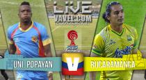 Resultado final Atlético Bucaramanga vs. Universitario Popayán, cuadrangulares finales Torneo Águila 2015 (1-0)