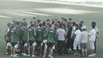 """La visita de la """"barra"""" a Sportivo Belgrano"""