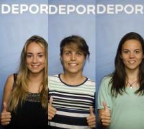 Elvira, Miriam y María, nuevos refuerzos del Deportivo femenino