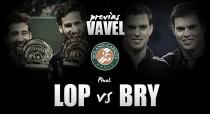 F. López y M. López - B. Bryan y M. Bryan: último paso a la gloria