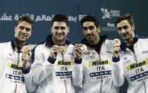 Nuoto, Doha 2014: Italia di bronzo nella 4x50 stile, Hosszu e Manadou show