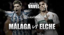 Málaga - Elche: el objetivo pasa por La Rosaleda