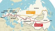 La línea de tren que une China y España