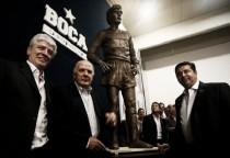 Presentaron la estatua de Marzolini en Boca