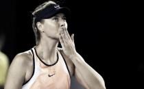 Sharapova se lleva un susto