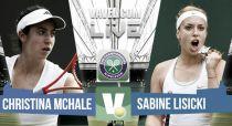 Christina McHale vs Sabine Lisicki en vivo y en directo online en Wimbledon 2015 (1-0)