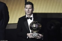 Lionel Messi awarded with fifth Ballon d'Or following phenomenal 2015
