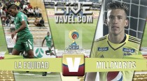 Resultado final: La Equidad - Millonarios por Liga Águila (0-3)