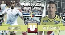 Jaguares vs Millonarios en vivo y en directo hoy online por Liga Águila 2016 II (0-0)