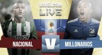 Nacional vence por la mínima a Millonarios