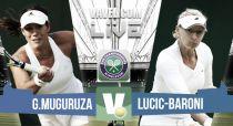 Garbiñe Muguruza vs Lucic-Baroni en vivo y en directo online en Wimbledon 2015 (1-0)