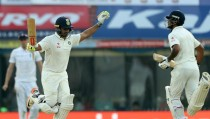 India vs England - Fifth Test, Day Four: Record breaking Nair makes England toil