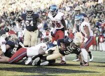 Score Navy Midshipmen vs SMU Mustangs of 2016 NCAA Football (75-31)