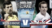 Score Andy Murray vs Novak Djokovic in Australian Open 2016 (6-1 7-5 7-6(3))
