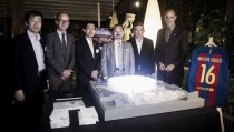 Visita del presidente de Nikken Sekkei en el Camp Nou
