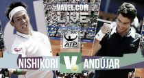 Resultado Kei Nishikori vs Pablo Andújar en la final del Open Conde de Godó 2015 (2-0)