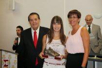 Noelia Abaldea, con la sub-17