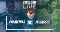 Resultado Palmeiras 2x0 Mirassol no Campeonato Paulista 2017