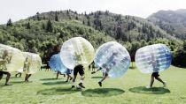 Fútbol en burbujas en Lorca