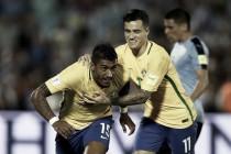 Com hat-trick de Paulinho e golaço de Neymar, Brasil atropela Uruguai e segue invicto com Tite