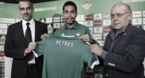 """Petros: """"Vengo a ayudar al Betis, estoy seguro de que lo haré bien"""""""