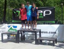 El Club Piragüismo Penedo se lleva la sexta regata de promoción en Slalom