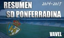 Resumen temporada 2014/2015 de la SD Ponferradina: a un gol de seguir soñando,otra vez