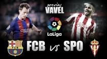 Previa Barcelona - Sporting: dura prueba para un Sporting en alza