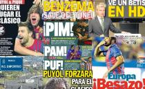 Las portadas del 21 de septiembre de 2012