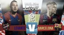 Resultado Levante vs Barcelona (0-2) en La Liga 2016:El líder se lleva los tres puntos gracias a destellos fugaces