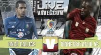 Resultado Once Caldas vs Rionegro Águilas  por la Liga Aguila 2016 (1-2)