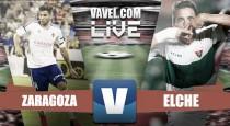Una muy buena primera mitad del Elche CF condena al Real Zaragoza