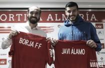 Borja Fernández y Javi Álamo, presentados como jugadores de la UD Almería