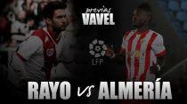 Rayo Vallecano - UD Almería: el Almería, a seguir remando en Vallecas