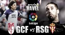 Previa Granada - Sporting de Gijón: los asturianos buscan luz verde en Los Cármenes