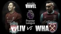 Previa: Liverpool-West Ham United, en busca del liderato perdido