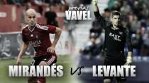 Previa CD Mirandés - Levante UD: a por el líder