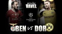Previa SL Benfica - Borussia Dortmund: prueba de fuego para el invencible muro amarillo