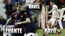 Previa Levante UD - Rayo Vallecano: ganar con significados diferentes