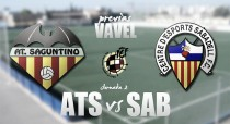 Previa Atlético Saguntino - CE Sabadell: en busca de la redención