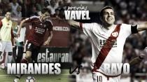 Previa CD Mirandés – Rayo Vallecano: dos aspirantes al ascenso se citan en Anduva