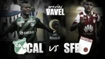 Deportivo Cali - Independiente Santa Fe: el 'león' quiere rugir en Palmaseca